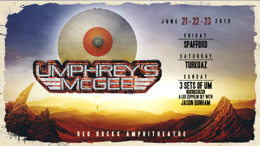 Red Rocks 2019 Announced Umphrey S Mcgee
